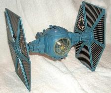 Pg #121B Vintage Star Wars Blue Battle Damaged Tie Fighter Parts
